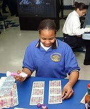 Joueuse de bingo